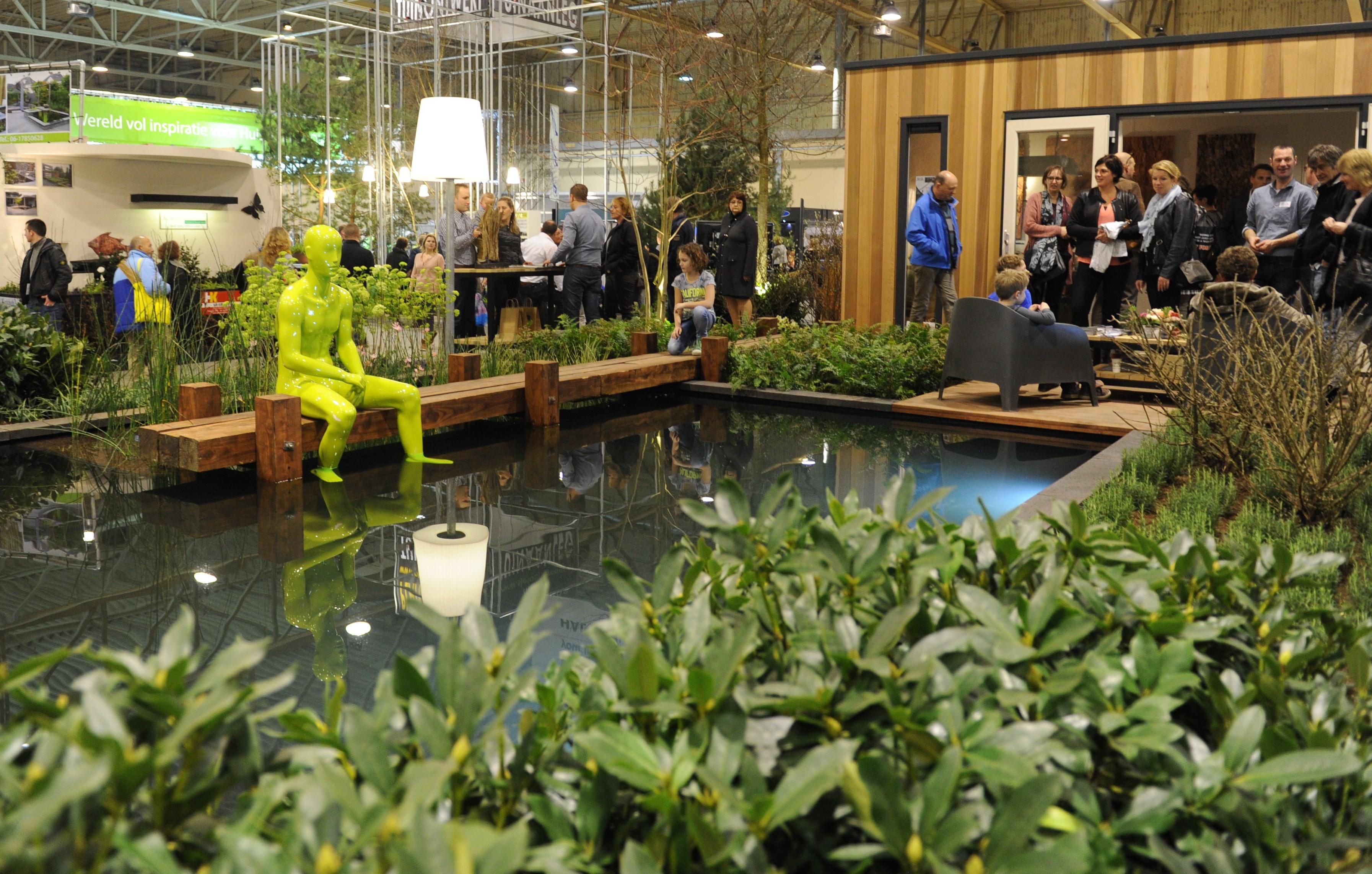Vernieuwd eigentijds fris tuinidee groene markt